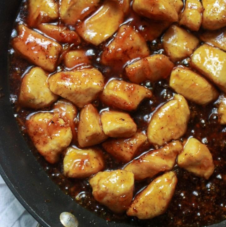 skillet orange chicken with orange marmalade