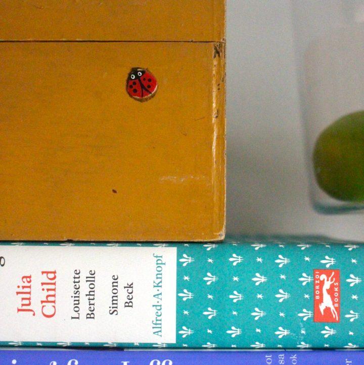 cookbooks and recipe box for recipe research