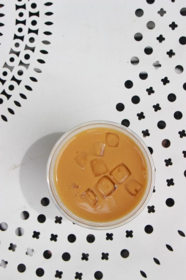 iced coffee outside