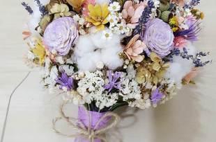 高雄新秘顧曼蒂的日本乾燥捧花與永生花捧花