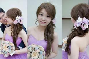 高雄新秘│新娘韓系髮型搭配鮮花造型~婚宴造型搶先看│開漳聖王廟宴客造型