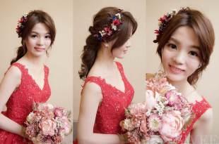 人氣紅色露背禮服 浪漫優雅造型 空氣感線條實在太美啦 新秘推薦