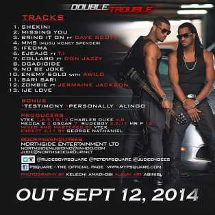 double-trouble-p-square-track P Square – Double Trouble (Album Art & Tracklist)