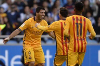 wp 1461182030691 - VIDEO Barcelona 8-0 Deportivo: Highlights; Suárez Nets 4 Goals To Put Barca Title Challenge Back On Track