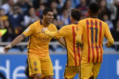 wp-1461182030691 VIDEO Barcelona 8-0 Deportivo: Highlights; Suárez Nets 4 Goals To Put Barca Title Challenge Back On Track