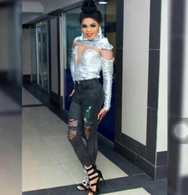 2017 12 22 00 04 46 1 - Bobrisky Looking Super Stunning As She Steps Out In Ripped Jeans and Heels (Photo)