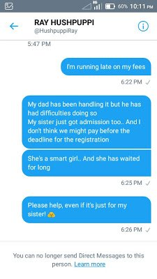 """2ecf2 dtdfqjfwkaeff0x - """"I Just Got Duped By Hushpuppi"""" - Another Nigerian Student Cries Out For Help (Pics)"""