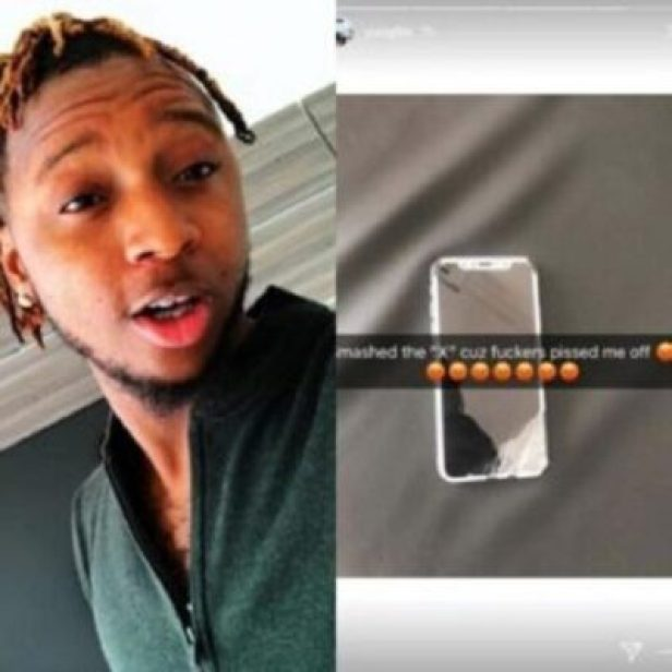 img_20180104_222757-300x300 Rapper Yung6ix Smashes His iPhone X (Photos)