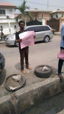 img 7433 1 - Taxify Drivers Protest In Lagos (Photos)