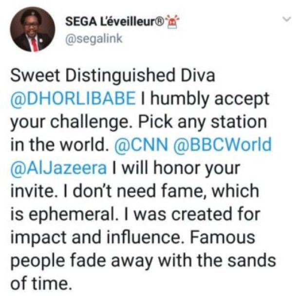 dgk8tvlxuaamj9z Founder Of #ENDSARS Movement And CSP Opetodalopo Badmus Exchanges Words Online