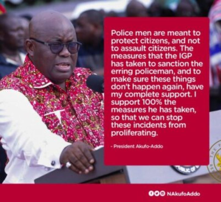 diph3hgx0aiytfr Ghanaian President Reacts To Policeman Assault On A Woman At Bank (Video)