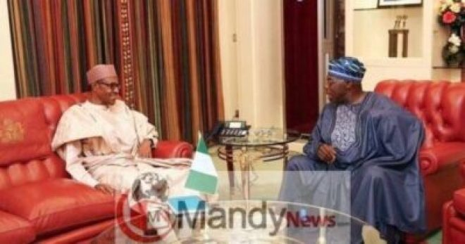 2018_5large_buhari_and_obasanjo-12059616733 Obasanjo And Buhari Meet, Shake Hands At Council Of State Meeting (Photos)