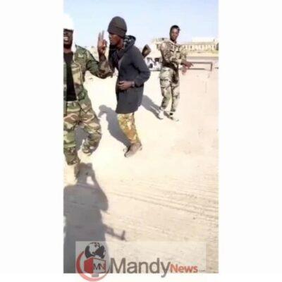 Photos Of 4 Gallant Nigerian Soldiers Doing The Zanku Legwork Dance