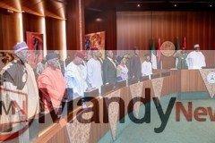 dxg5ci5xcaejt3t1401535747 - Obasanjo And Buhari Meet, Shake Hands At Council Of State Meeting (Photos)