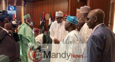 dxgnkkowwaagj8a1590269325 - Obasanjo And Buhari Meet, Shake Hands At Council Of State Meeting (Photos)