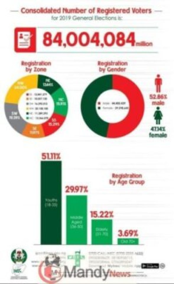 nigeria-voter-distribution-by-age1023331429 Students, Youths Lead As INEC Releases 2019 Election Voters Distribution Statistics