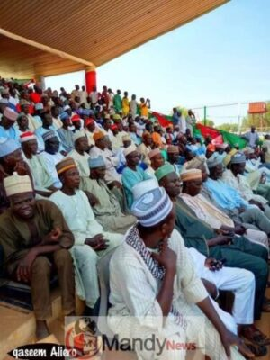8673514 fbimg1549295327547 jpeg4338b572844f6921e44b458e538db382661667619 - Pictures From PDP Presidential Campaign Rally In Zamfara State