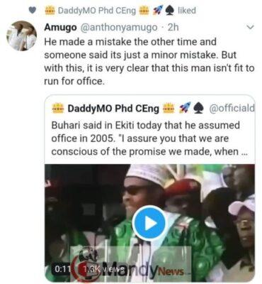 "8684487 img20190205wa0040 jpeg99690db20c92352d996e5214fb75c39a376343048 - ""Dementia, Buhari Is Gone"": Associate Prof. Reacts To PMB's ""2005 Blunder"" In Ekiti"