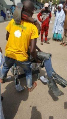 8719663 dy9xzmyxcaebqh8 jpeg9d5cdd85a3bf3314655d18583bb17c4e183007893 - Dolapo Osinbajo Gifts A Crippled Man A Wheelchair At #WalkForBuhari (Photos)