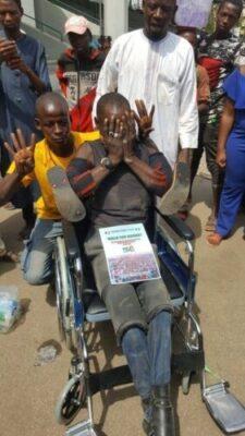 8719664 dy9xvwuwoaetq9h jpeg04547493d639f0d559b44971dc02cbaf754135990 - Dolapo Osinbajo Gifts A Crippled Man A Wheelchair At #WalkForBuhari (Photos)