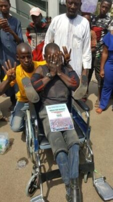 8719664_dy9xvwuwoaetq9h_jpeg04547493d639f0d559b44971dc02cbaf754135990 Dolapo Osinbajo Gifts A Crippled Man A Wheelchair At #WalkForBuhari (Photos)