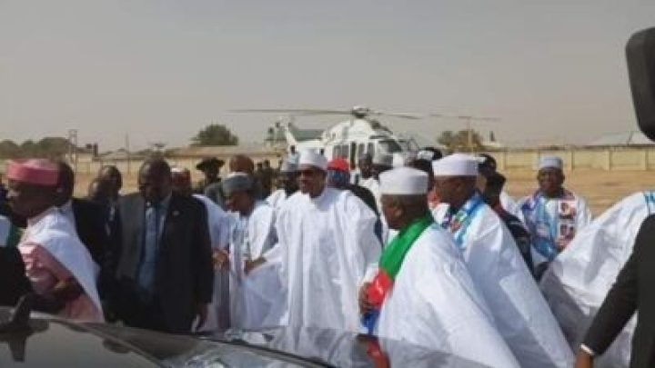 8725103_img20190210115735_jpega1fa5f390353148c881c71f74db83ad31832419995 Buhari Arrives In Zamfara, For His Campaign Rally
