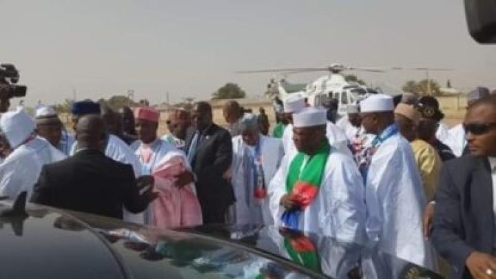 8725104_img20190210115738_jpeg194e0c83d63749db4aa1d43ccea54c24190458571 Buhari Arrives In Zamfara, For His Campaign Rally