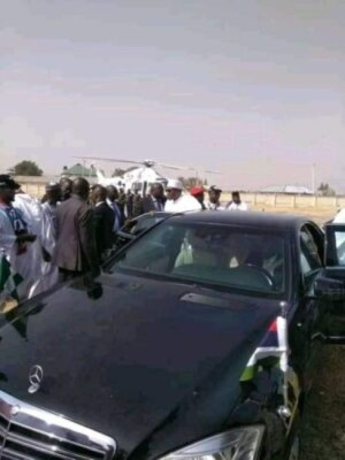 8725105_img20190210115752_jpeg3cc291761ddab61aa96d9e3fc1a1de1b1093517813 Buhari Arrives In Zamfara, For His Campaign Rally