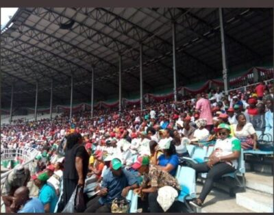 8734714 screenshot20190211122410 jpegac7dc7d32670c02a2a6954d318f803141130343410 - Photos Of Crowd Waiting For Atiku At His Rally In Rivers