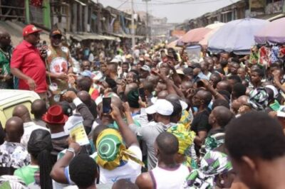 8735885 peter5 jpg303aadaf36877465f0b71684551fb9621187206937 - Photos From Peter Obi's Campaign At Ariaria Market, Aba