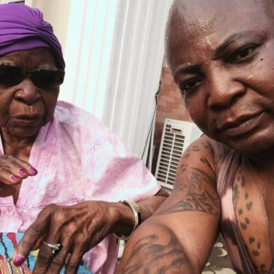 IMG 20190222 093100 412 - Charly Boy Shares Emotional Moment With His 101-Year Old Mother (Video)