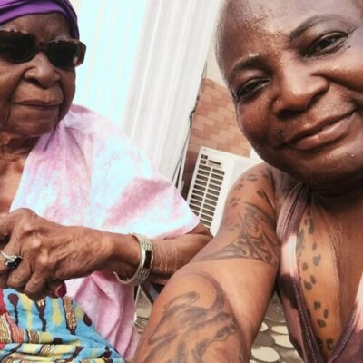 IMG 20190222 093116 282 - Charly Boy Shares Emotional Moment With His 101-Year Old Mother (Video)