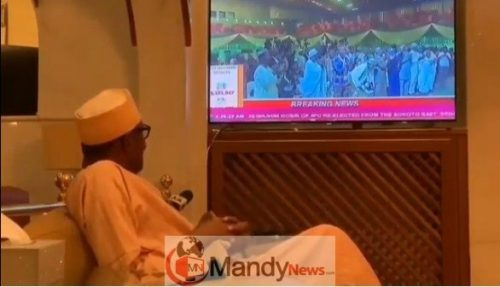 Screenshot 8 - See Buhari's Reaction When He Was Announced Winner (video)