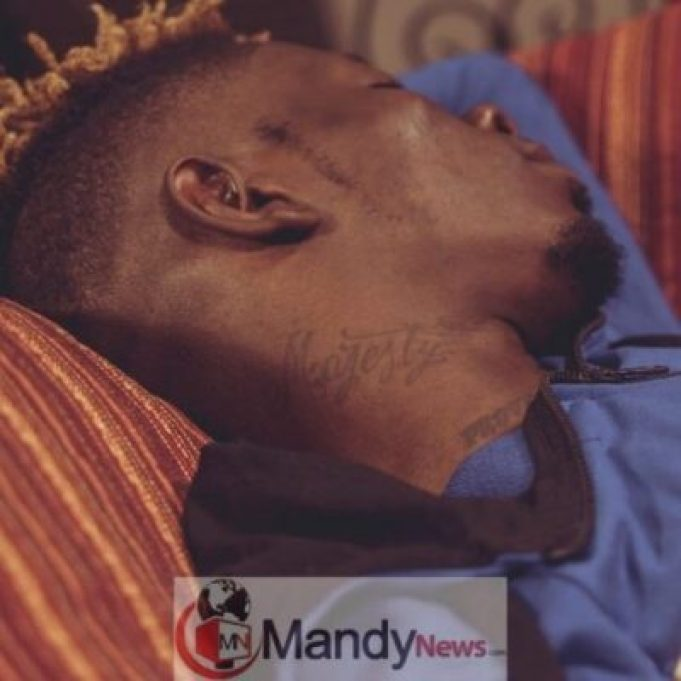 Shatta-Wale-Tattoos Shatta Wale Tattoos His Son's Name, 'Majesty' On His Neck