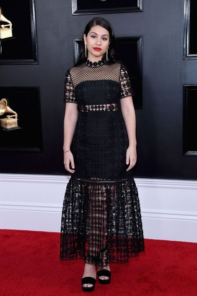 alessia cara attends the 61st annual grammy awards at news photo 1097515000 1549843353348866726 - All Grammys 2019 Red Carpet Celebrity Dresses & Looks (Photos)