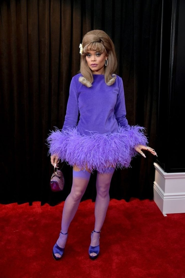 andra day attends the 61st annual grammy awards at staples news photo 1097527032 15498469631748260614 - All Grammys 2019 Red Carpet Celebrity Dresses & Looks (Photos)