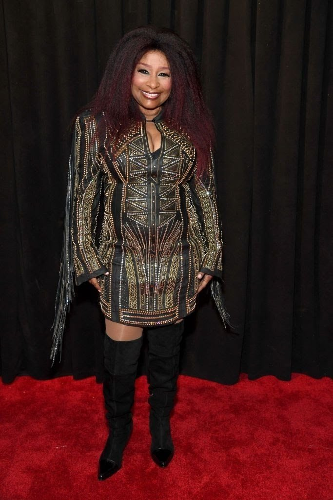 chaka-khan-attends-the-61st-annual-grammy-awards-at-staples-news-photo-1097522106-1549844284863042329 All Grammys 2019 Red Carpet Celebrity Dresses & Looks (Photos)