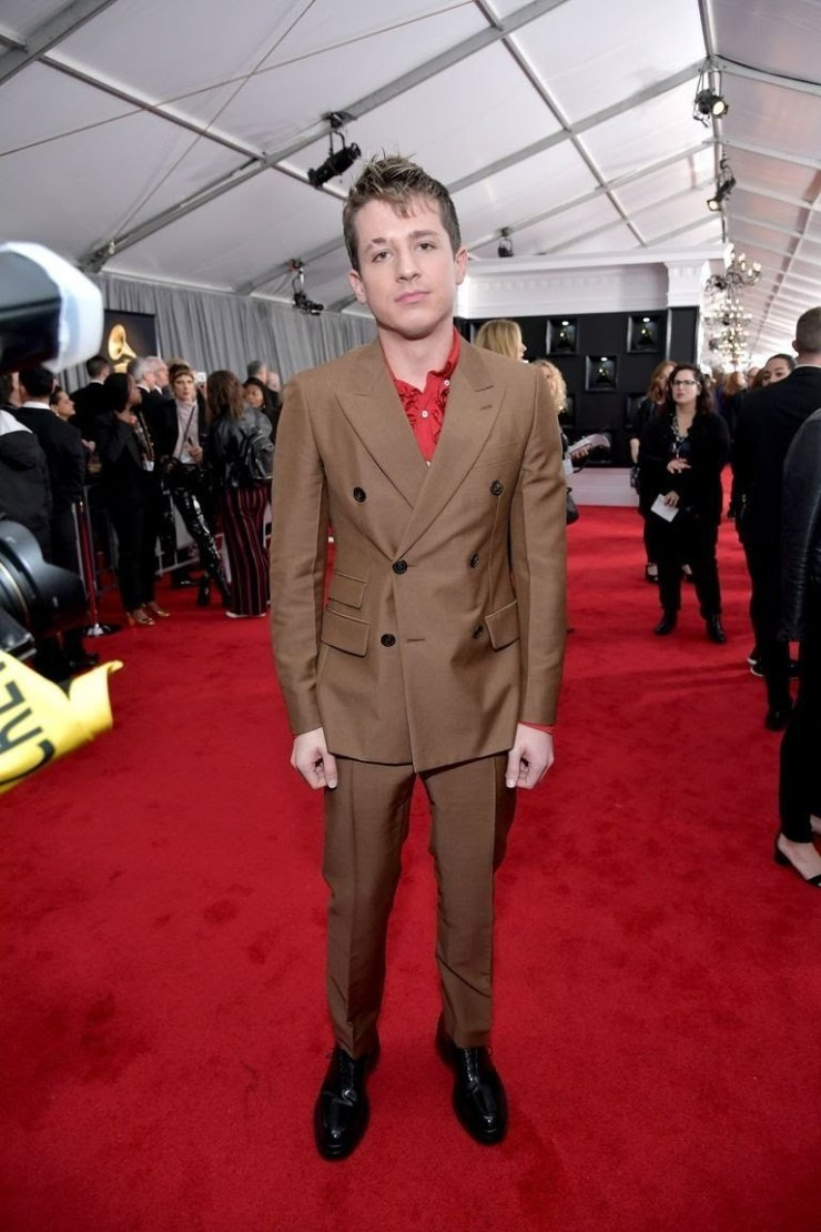 charlie-puth-attends-the-61st-annual-grammy-awards-at-news-photo-1097514866-1549843667587899387 All Grammys 2019 Red Carpet Celebrity Dresses & Looks (Photos)