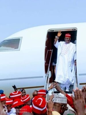 dzcbtswwsaa3khs1585651281 - Atiku Arrives In Kano For Campaign Rally (photos)