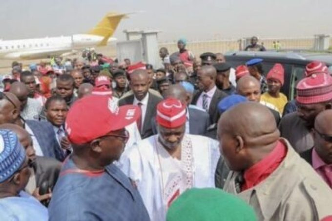 dzcibw7woaaqsrf546110990 Atiku Arrives In Kano For Campaign Rally (photos)
