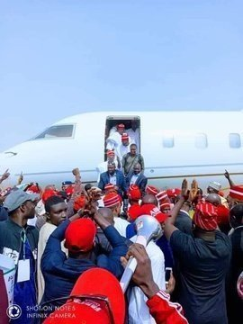 dzcidh9w0ae5zrw1910623996 - Atiku Arrives In Kano For Campaign Rally (photos)