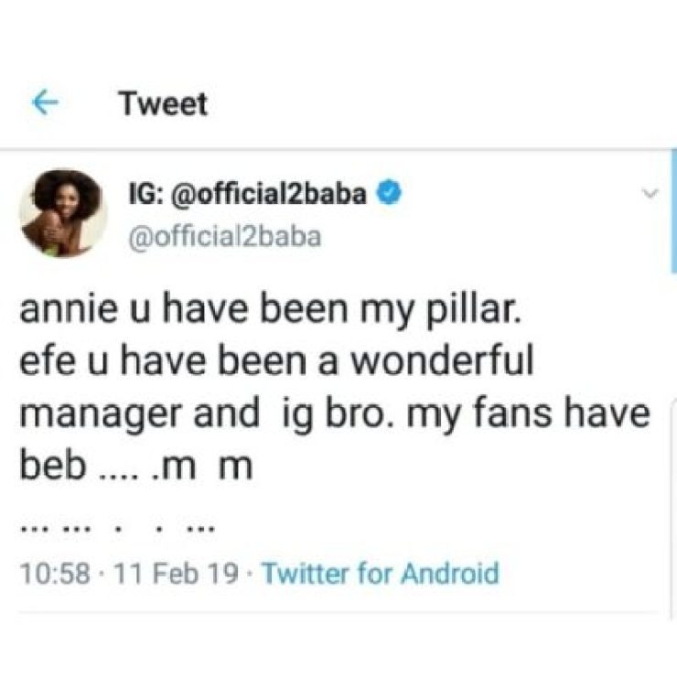dzhiuiawwaaofc0799529960 2face Apologizes To Wife, Annie Idibia For Disappointing Her (See Tweets)