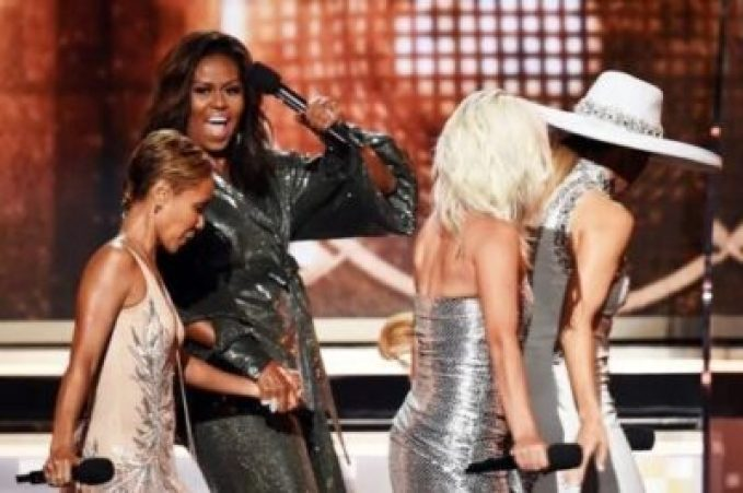images-5-21464177716. Michelle Obama Makes Surprise Grammy Award Appearance