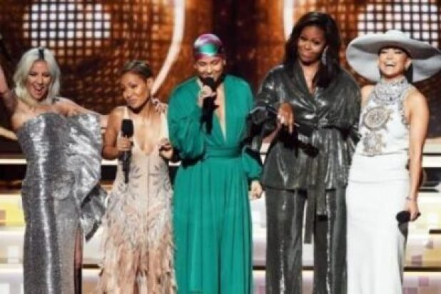 images-7607938694. Michelle Obama Makes Surprise Grammy Award Appearance