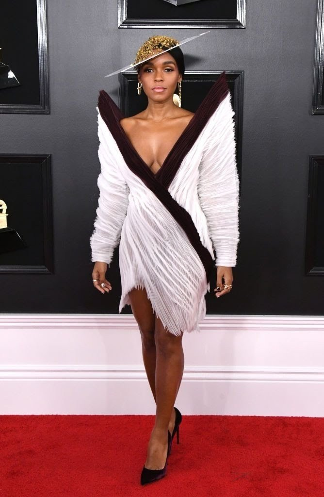 janelle monae attends the 61st annual grammy awards at news photo 1128781589 1549844692473533002 - All Grammys 2019 Red Carpet Celebrity Dresses & Looks (Photos)