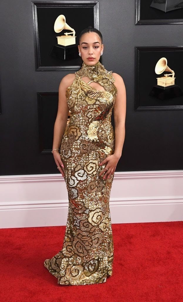 jorja-smith-attends-the-61st-annual-grammy-awards-at-news-photo-1097526536-15498462661329337385 All Grammys 2019 Red Carpet Celebrity Dresses & Looks (Photos)