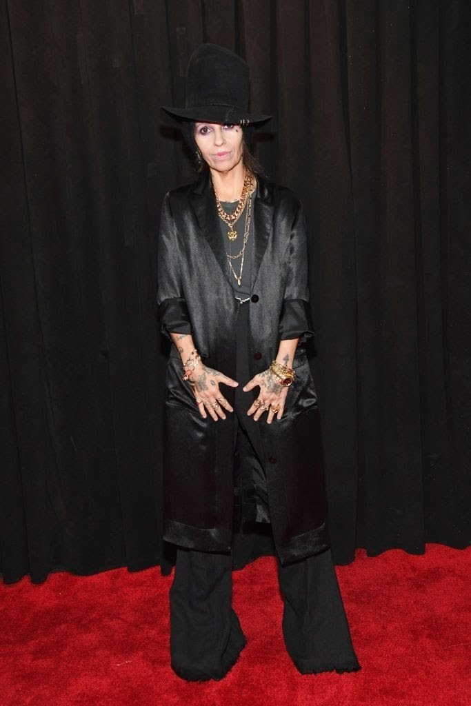 linda perry attends the 61st annual grammy awards at news photo 1097521746 15498441301430369810 - All Grammys 2019 Red Carpet Celebrity Dresses & Looks (Photos)