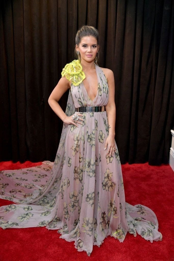 maren morris attends the 61st annual grammy awards at news photo 1097509938 15498423821754593285 - All Grammys 2019 Red Carpet Celebrity Dresses & Looks (Photos)