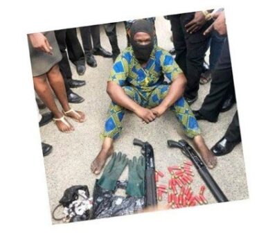 masked armed robber - Masked Robber Snatching Bags, Arrested In Lagos (Photo)