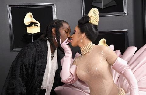 offset and cardi b attend the 61st annual grammy awards at news photo 1097527052 15498468802013956218 - All Grammys 2019 Red Carpet Celebrity Dresses & Looks (Photos)